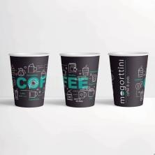 Surtido vasos papel diseño Mogorttini 100 unidades 6'5 Oz 190 ml