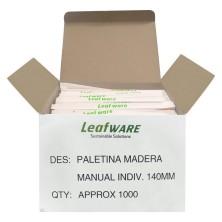 Paletinas de madera envasadas individualmente Leafware 1000 unidades