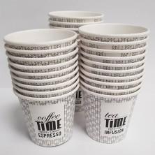 Vaso de cartón 100cc  4 onzas  50 unidades Coffee Time