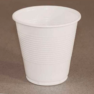 Vaso de plástico blanco 100 unidades de 100 cc